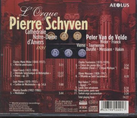 L'orgue Pierre Schyven