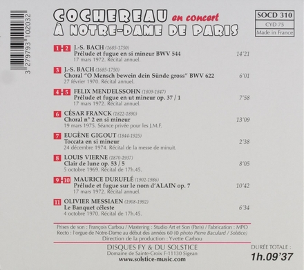 Cochereau en concert à Notre-Dame de Paris