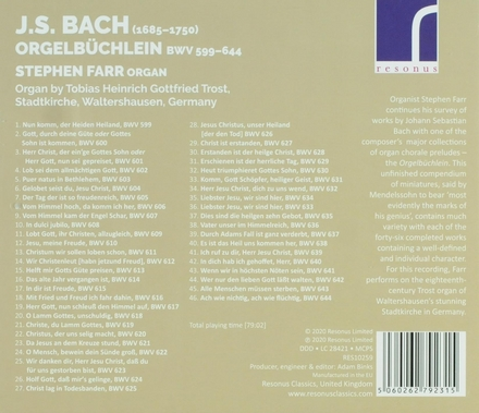 Orgelbüchlein BWV 599-644