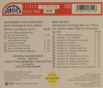 Sechs Gesänge für mittlere Stimme und Klavier, op.13
