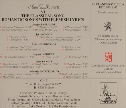 Het kunstlied: romantische liederen op Vlaamse tekst