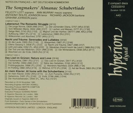 The songmakers' almanac Schubertiade
