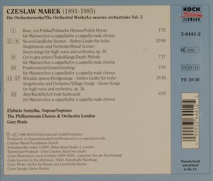Orchesterwerke vol.3. vol.3