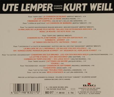 Ute Lemper chante Kurt Weill