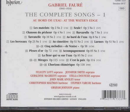 The complete songs : au bord de l'eau. Vol. 1