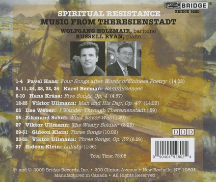 Spiritual resistance : Music from Theresienstadt