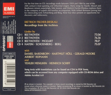 Dietrich Fischer-Dieskau : Recordings from the archives