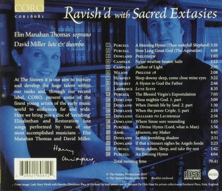 Ravish'd with sacred extasies