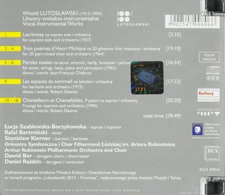 Vocal-instrumental works