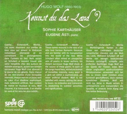 Kennst du das Land? : Lieder nach Goethe, Mörike, Eichendorff
