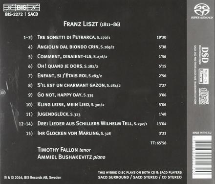 Liszt : 15 songs