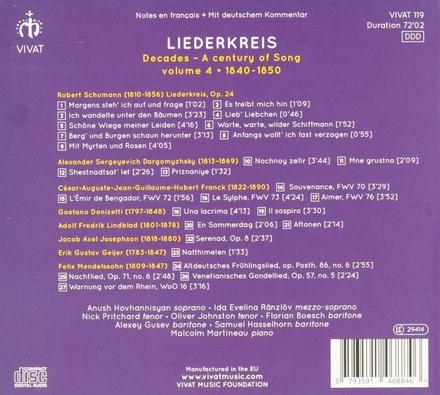 Decades : a century of song. Volume 4, 1840-1850 : Liederkreis