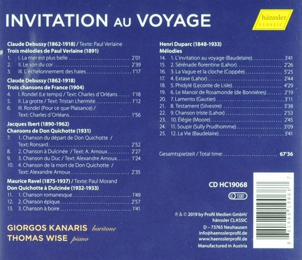 Invitation au voyage : Don Quixote and French songs