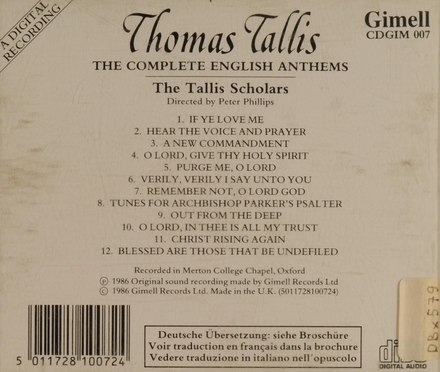 The complete English anthems