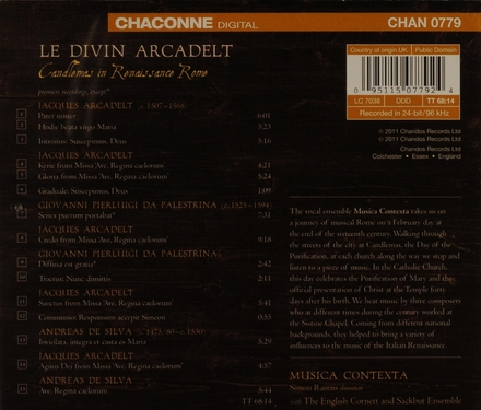 Le divin Arcadelt : Candlemass in Renaissance Rome