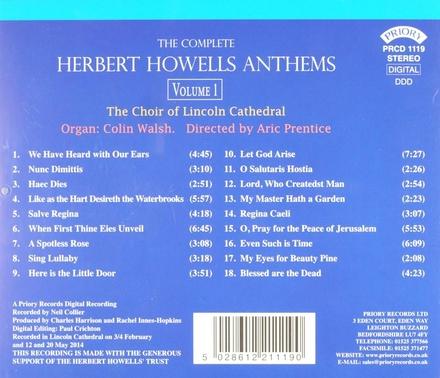 The complete Herbert Howells anthems. vol.1