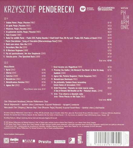 Penderecki conducts Penderecki. Vol. 2, Choral music