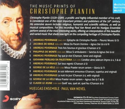 The music prints of Christophe Plantin : Palestrina . De la Hèle . Le Jeune . Pevernage . De Kerle . De Monte