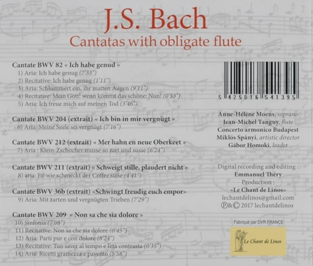 Cantatas with obligate flute