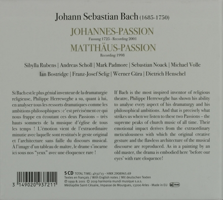 Johannes-Passion / Matthäus-Passion