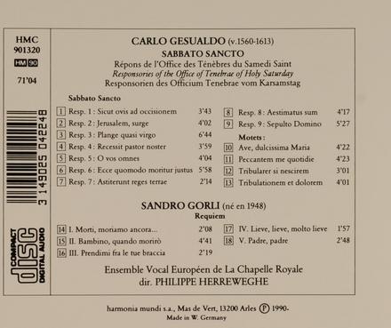 Sabbato sancto - motets