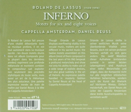 Inferno : motets for six and eight voices
