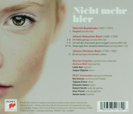 Nicht mehr hier : music by JS Bach, D Buxtehude and JC Bach