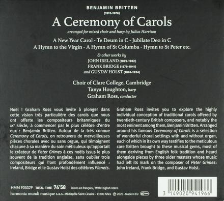 A ceremony of carols : Ireland Bridge Holst