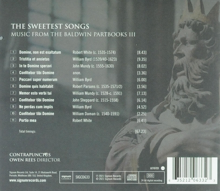 The sweetest songs : music from the Baldwin partbooks III
