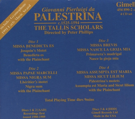 The Palestrina 400 collection