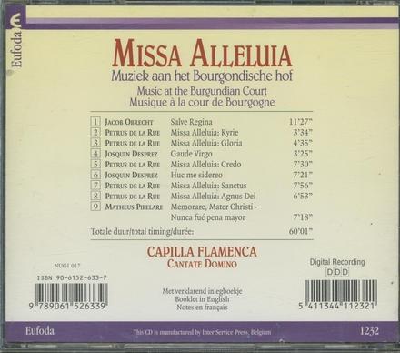 Missa alleluia : muziek aan het Bourgondische hof