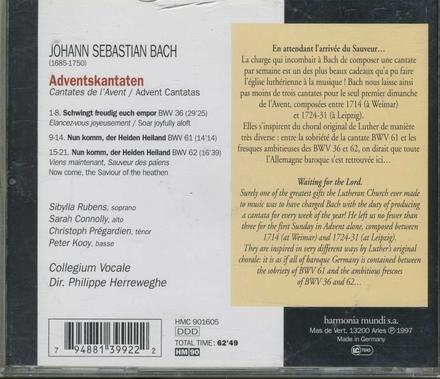Adventskantaten BWV 36, 61 & 62