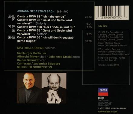 Cantatas BWV 82, 158 & 56
