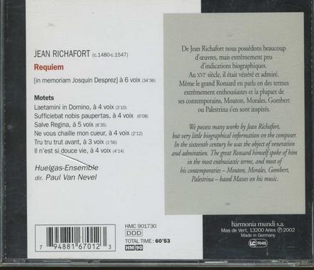 Requiem (in memoriam Josquin Desprez)