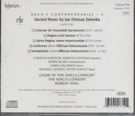 Sacred musik by Jan Dismas Zelenka. vol.7