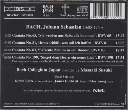 Cantatas : cantatas from Leipzig 1724. [Vol.] 21