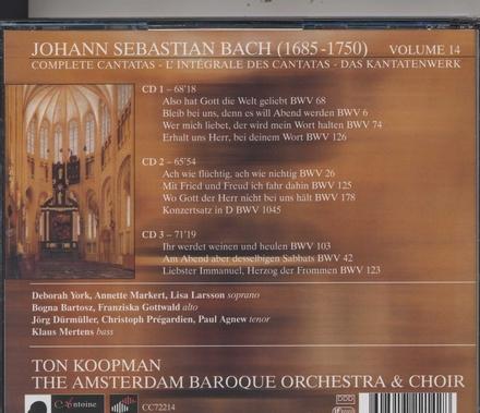 Bach complete cantatas. Vol. 14