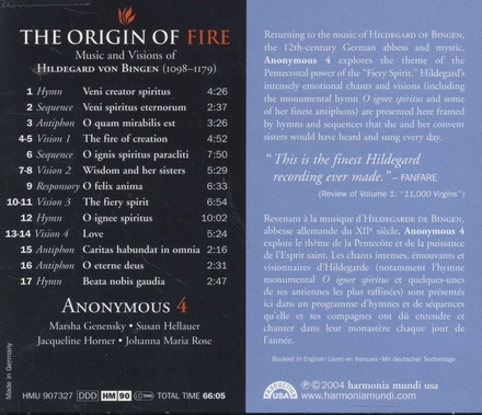 The origin of fire : music and visions of Hildegard von Bingen