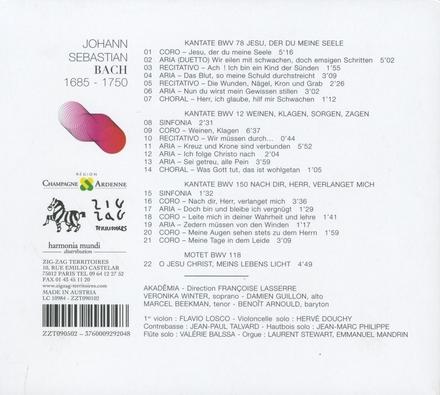 Kantaten BWV 12, 78, 159 & Motette BWV 118