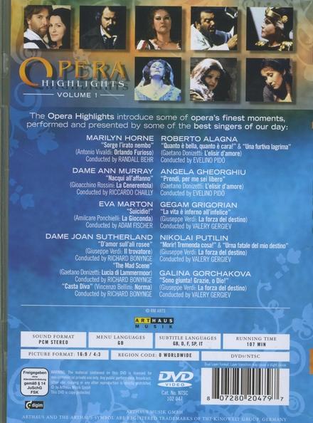 Opera highlights. Vol. 1