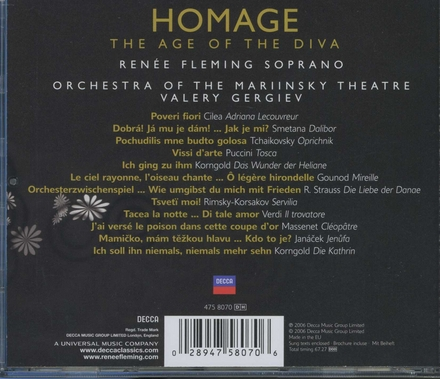 Homage : the age of the diva