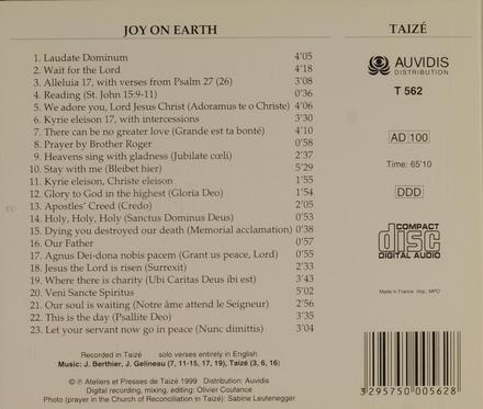 Joy on earth : Taizé