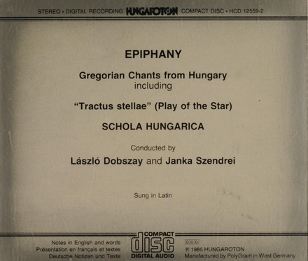 Epiphany. Gregorian chants from Hungary