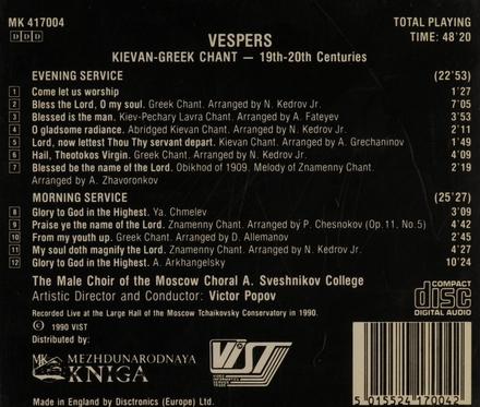 Vespers : Kievan-Greek chant