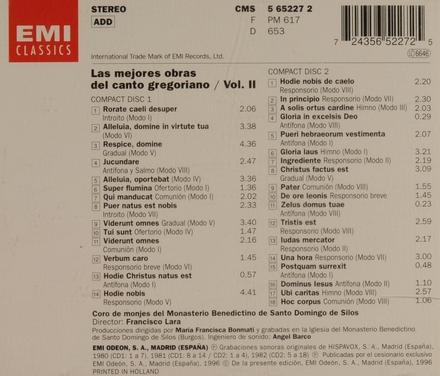 Las mejores obras del canto gregoriano. vol.2
