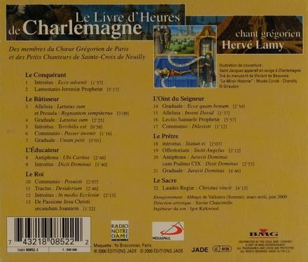 Le livre d'heures de Charlemagne : chant grégorien