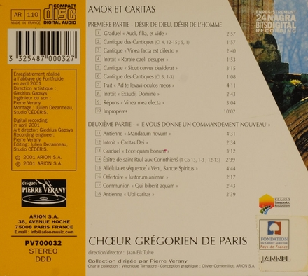 Amor et caritas : Gregorian chant