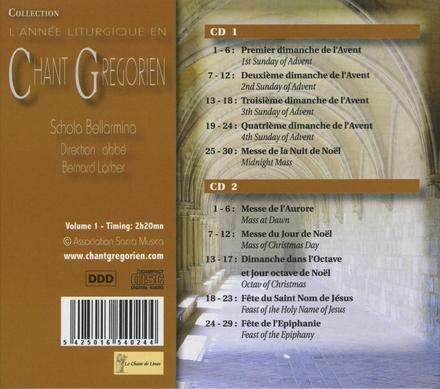 L'année liturgique en chant gregorien. Vol. 1