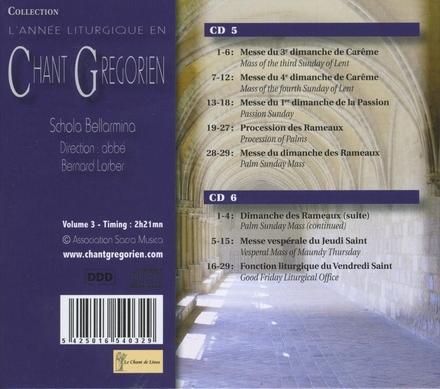 L'année liturgique en chant gregorien. vol.3