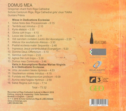 Domus mea : Gregorian chant from Riga cathedral